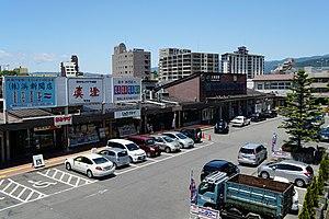 Kami-Suwa Station - Kami-Suwa Station forecourt in June 2016