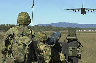 16th Air Land Regiment, Royal Australian Artillery - An RBS-70 team during an exercise in 2001.