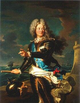 Portrait du comte de Toulouse par Hyacinthe Rigaud en 1708