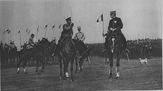 Allied Army of the Orient - Russian General Leontiev salutes Sarrail