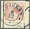1851 Newspaper rose Goisern Mi8.jpg