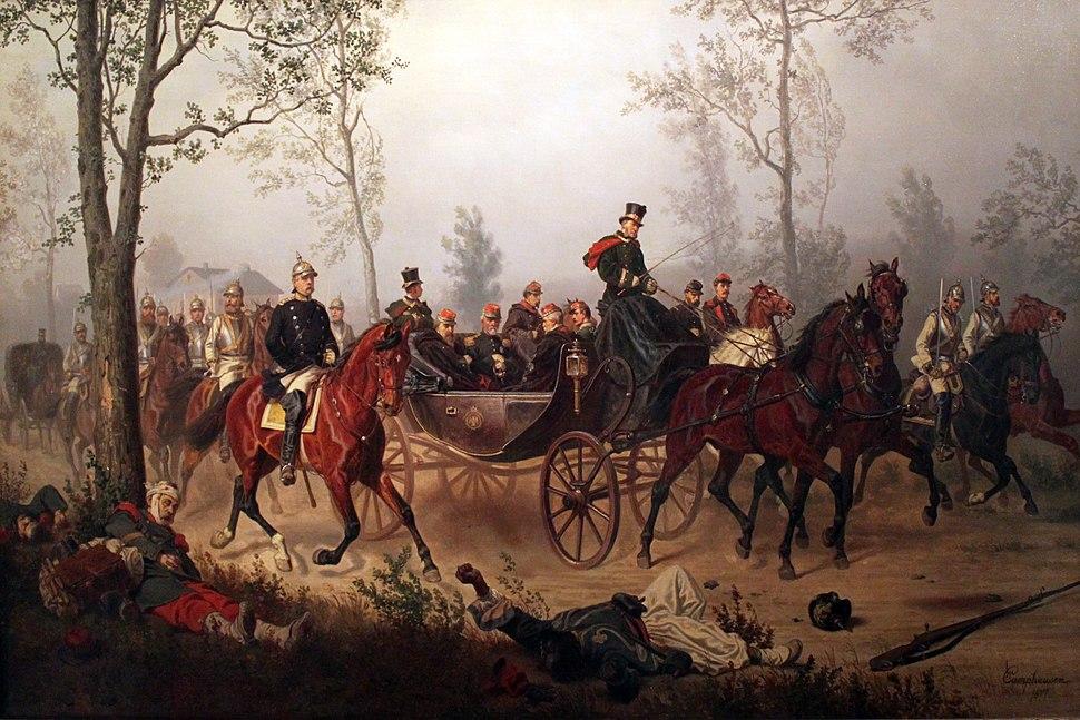 1877 Camphausen Otto von Bismarck geleitet Kaiser Napoleon III anagoria