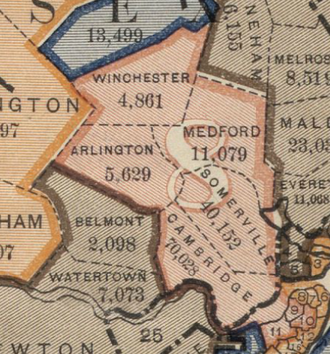 Massachusetts's 8th congressional district - Massachusetts's 8th congressional district, 1891