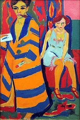 1910 Kirchner Selbstbildnis mit Modell anagoria