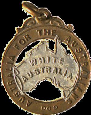William Lane - Image: 1910 White Australia badge