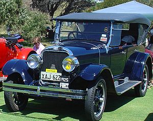 Vintage car - A restored 1925 Flint touring car (U.S.A.) at a rally in Australia