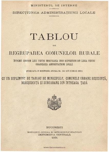 File:1931 - Tablou de regruparea comunelor rurale.pdf