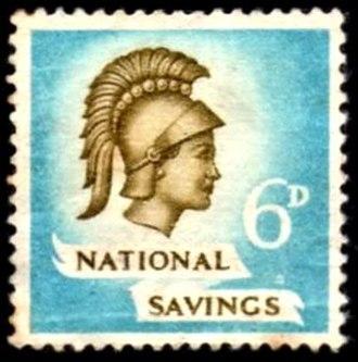 Savings stamp - A British 1951 savings stamp.