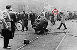 1956 Gabor B. Racz (red circle) Hungarian Revolution.jpg