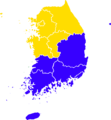 1963 South Korean elections result map.png