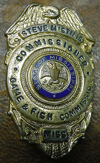 Mississippi Department of Wildlife, Fisheries, and Parks - A Mississippi Game and Fish Commission badge from 1964.