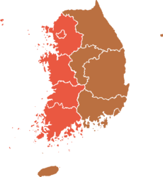 1967 South Korean elections result map.png
