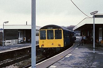 Burnley Central railway station - The station in 1988