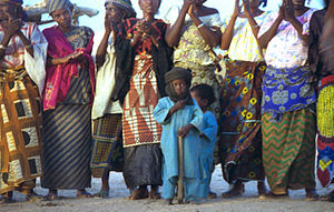 Slavery in Niger - Tuareg women and children, Niger, 1997