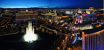 English: Las Vegas Strip Bellagio Caesar's Palace