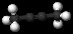 2-Butyne - Image: 2 butyne 3D balls B