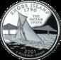 Rhode Island quarter dollar coin
