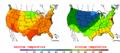 2002-09-15 Color Max-min Temperature Map NOAA.png