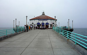 Manhattan Beach Pier - Building at the end of the Manhattan Beach Pier