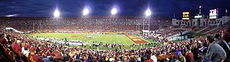 2008 USC Trojans football team - The announced crowd of over 80,000 dissipated by midway though the fourth quarter, as the Trojans, using second and third team players, were already leading 49–0.