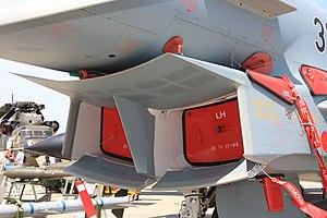 Splitter plate (aeronautics) - Splitter plate forming a lip on the underside of a Eurofighter Typhoon.