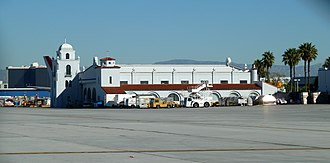 Los Angeles International Airport - Hangar No. 1 was the first structure at LAX, built in 1929, restored in 1990 and remaining in active use.