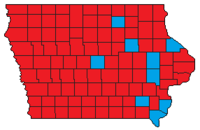 2010 Iowa gubernatorial election results by county.png