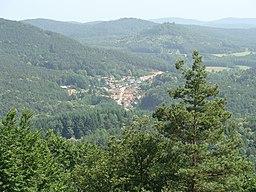 Darstein im Wasgau (Pfälzerwald) _ Blick vom Hahnenstein