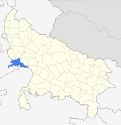 Location of Agra district in Uttar Pradesh