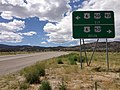 2014-08-09 13 29 30 View north along U.S. Route 93 about 26.4 miles north of the Lincoln County line approaching U.S. Routes 6 and 50 near Majors Place, Nevada.JPG