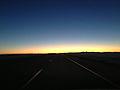 2014-10-28 07 30 33 View east just before sunrise along Interstate 80 near milepost 8 in Tooele County, Utah.JPG
