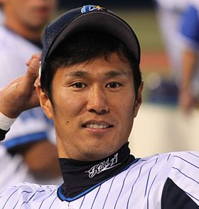 20140915 Yasutomo kubo pitcher of the Yokohama DeNA BayStars, at Yokohama Stadium.JPG