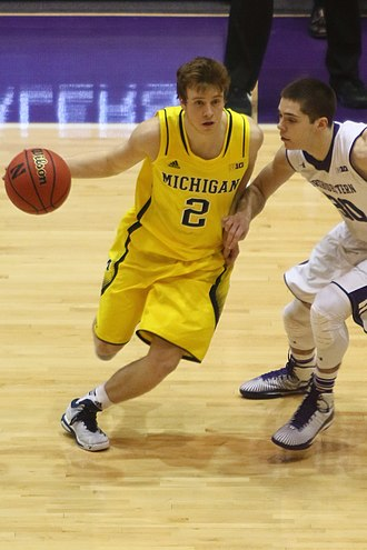 2014–15 Michigan Wolverines men's basketball team - Caris LeVert (left) and Spike Albrecht were named co-captains