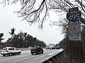 2016-01-22 09 46 14 View west along the outer loop of the Capital Beltway (Interstate 495) just west of Exit 30 in Kemp Mill, Montgomery County, Maryland.jpg