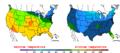 2016-04-04 Color Max-min Temperature Map NOAA.png