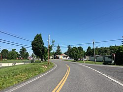 2016-06-18 09 50 01 View north along West Virginia State Route 42 (Cottage Street) entering Elk Garden, Mineral County, West Virginia.jpg