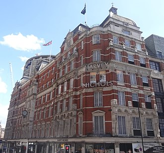 Harvey Nichols - Harvey Nichols at the corner of Knightsbridge and Sloane Street in London