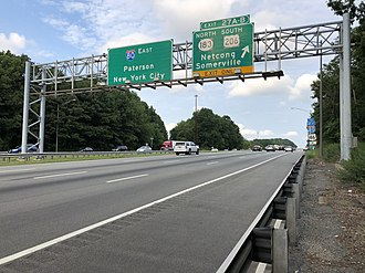 Mount Olive Township, New Jersey - The junction of I-80, US 206 and Route 183 in Mount Olive Township