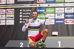 20180930 UCI Road World Championships Innsbruck Men Elite Road Race Alejandro Valverde 850 2213.jpg