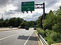 2020-06-11 16 16 57 View west along Maryland State Route 190 (River Road) at the exit for Interstate 495 SOUTH (Northern Virginia) in Potomac, Montgomery County, Maryland.jpg