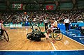 221000 - Wheelchair basketball Sandy Blythe crash - 3b - 2000 Sydney match photo.jpg