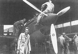 24th Pursuit Group - 21st Pursuit Squadron P-40Bs being serviced at Clark Field, Luzon.
