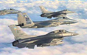 422d Test and Evaluation Squadron - Squadron F-15s and F-16s in flight