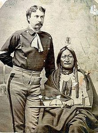 William Philo Clark - William Philo Clark and Little Hawk at the Red Cloud Agency in 1877.