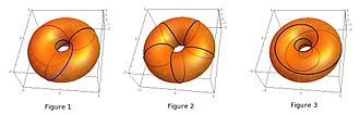 Rotations in 4-dimensional Euclidean space - Image: 4DRotation Trajectories