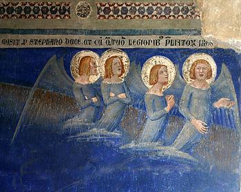 Français : 4 anges - Cortège funèbre de saint ...