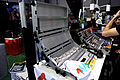 4ms modular synthesizer folding chassis - 2015 NAMM Show.jpg