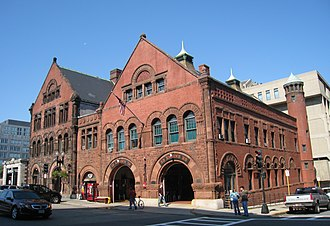 Boston Fire Department - The quarters of Engine Co. 33 and Ladder Co. 15 on Boylston St. in the Back Bay neighborhood.