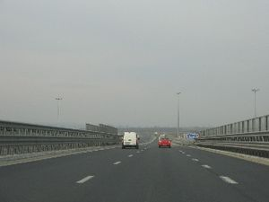 A1 motorway (Romania) - A1 motorway Pitești bypass segment – Pitești East node at km 115 (westbound view)
