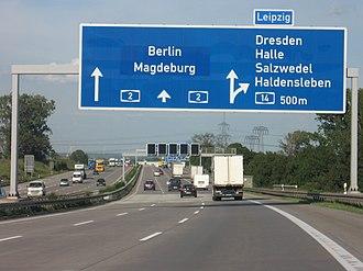 Bundesautobahn 2 - A2 near Magdeburg